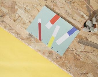 Handmade notebook | Paint design