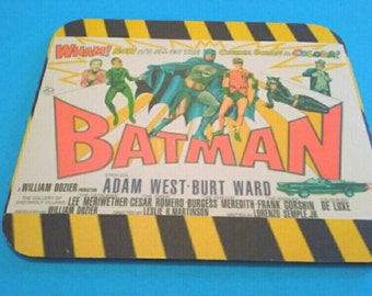 Awesome Batman Mouse Pad, Batman And Robin, Mousepad, Retro, Heat Transfer, Made By Mod.