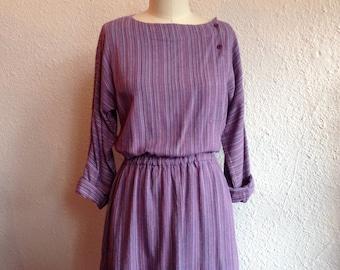 1970s striped cotton dress