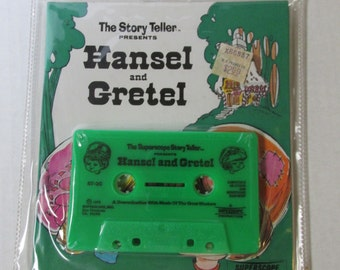 Vintage The Story Teller Present Hansel and Gretel Book and Cassette/ 1973 / Never opened
