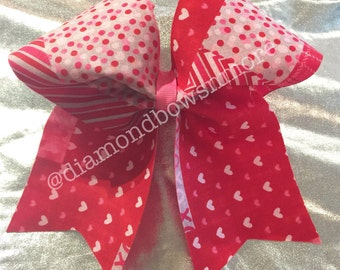 Pink and Red Valentine Bow