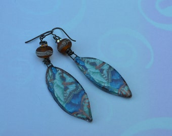 Scorched Earth butterfly decal earrings - DayLilyStudio