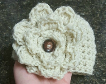 Handmade crochet baby hat