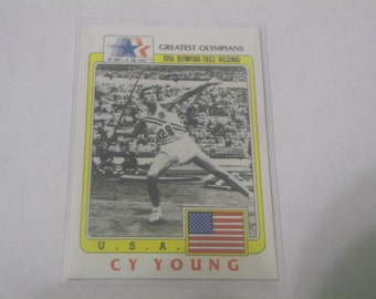 1983 Cy Young Greatest Olympians card #53