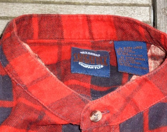 without neck vintage Plaid Shirt