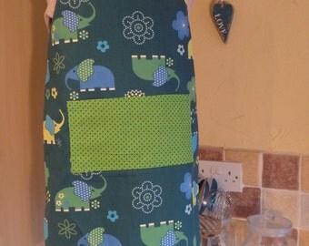 Reversible apron. Kids apron. Elephant apron