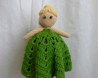Crocheted Tinkerbell lovey