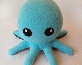 Cuddly Fleece Octopus Plush - Light Blue