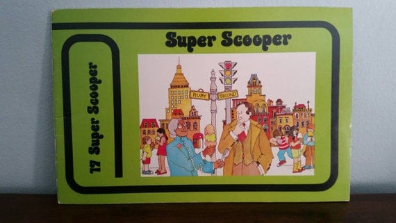 Super Scooper by JoAnne Nelson and Penny Carter, vintage children's paperback book