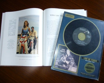 Elvis Presley Book, by Susan Doll, Love Me Tender Collectible Single Record