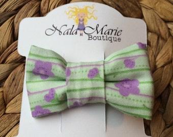 Green & Purple Hair Bow