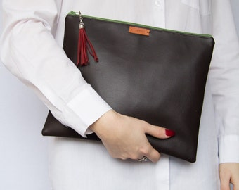 SALE! Dark Brown Oversized Clutch Bag