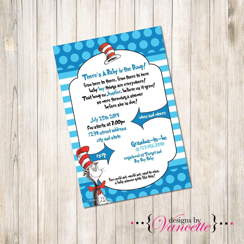 dr seuss baby shower invite dr seuss invite by designsbyvancette
