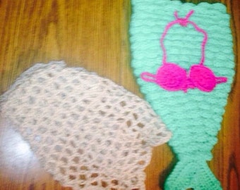 Crochet mermaid photo prop