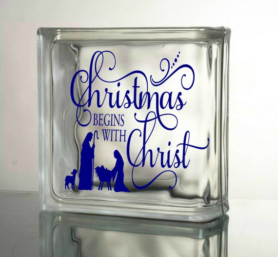 Christmas begins with christ decal vinyl decals by granddsigns for Quality craft vinyl plank reviews