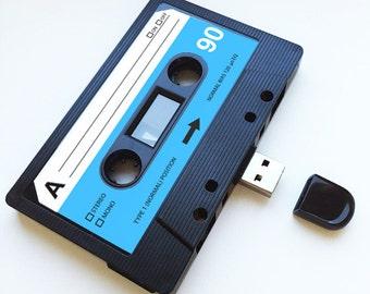 4GB/8GB/16GB USB Mixtape - Retro Personalised Gift - Ideal for a Loved One, Birthday, Wedding Present- Boyfriend, Girlfriend, Flash Drive