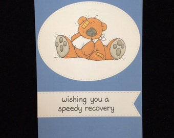 Wishing You A Speedy Recovery Bear Greeting Card