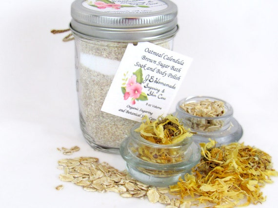 Oatmeal Calendula Bath Soak With Tea Bags 8 Oz