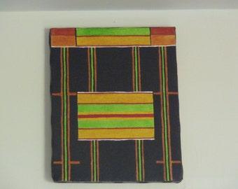 Original painting: kente motifs