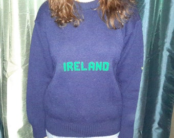 Vintage Blarney Castle Knitwear Ireland Sweater FREE SHIPPING~