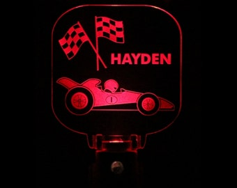 Race Car Night Light Personalized LED Sensor