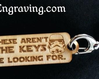 Wooden Stormtrooper Keychain