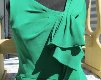 Vintage Oscar de la Renta Silk Designer Dress ,size 8, Made in USA SALE 412.00 was 825.00