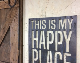 This is my happy place! Steel art work