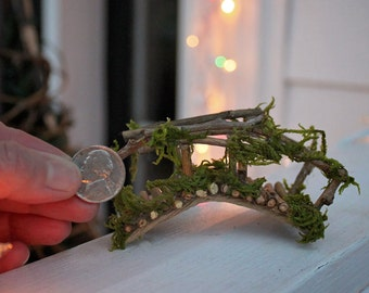 "Miniature Bridge, Fairy Garden, Fairy Garden Bridge ~ Fairy Rickety Bridge Handcrafted by Olive  Size ""Mini"""