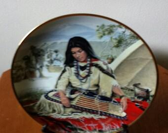 1989 Hamilton Collection Sacajawea Indian Woman Plate
