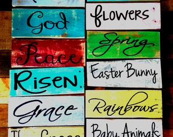 Rustic Easter signs, Easter pallet board signs,  spring home decor, Easter signs, Christian pallet signs, Christian Easter signs, spring art