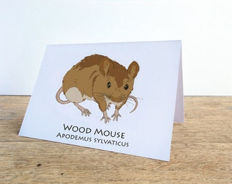 Wood Mouse Card