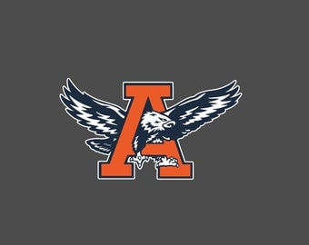 Auburn War Eagle Vintage Full Color - Die Cut Decal/Sticker