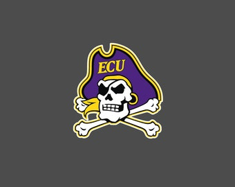 East Carolina University - ECU Pirate Head- Die Cut Decal/Sticker