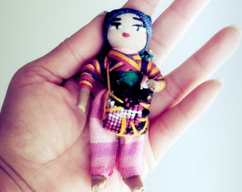 Worry Doll Magnets, Fridge Magnets, Trouble Dolls, Doll Magnets, Fabric Magnets, Cute Fridge Magnets