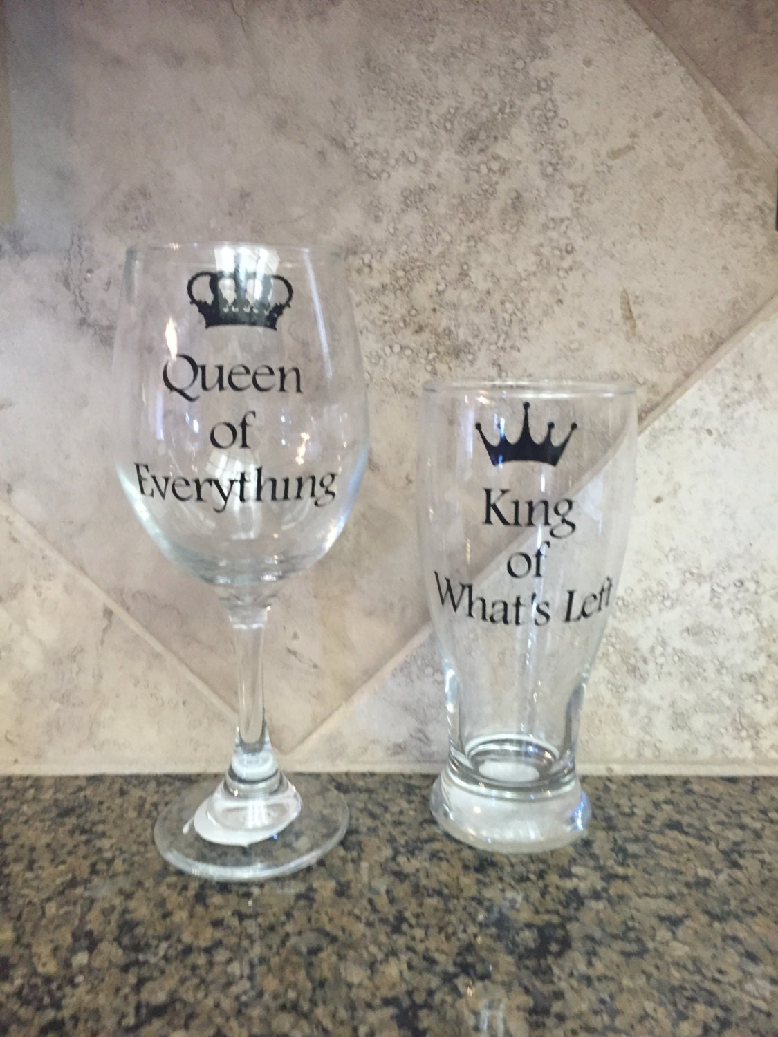 On Sale Personalized Wine Glasses Gifts For Couples Bride