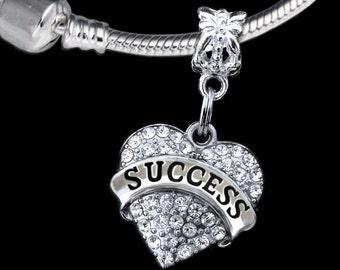 Success charm fits european style bracelet success charm success gift success