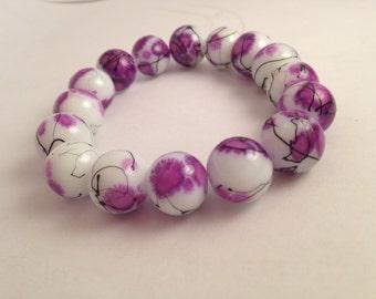 Beaded Bracelet, Womens Bracelet, Purple Bracelet