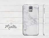 White Marble Samsung Galaxy S5 Phone Case White Marble Phone Case Preppy Chic Samsung Galaxy S4 S3 S5 Case Marbled Case White and Gray