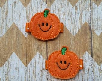 Pumpkin clippies, pumpkin hair clippies, Halloween hair clip, Halloween hair bow, Fall hair clips, pumpkin hair bows, pumpkin hair bows