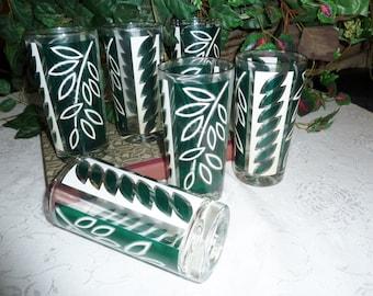 Vintage Set of 6  Glasses