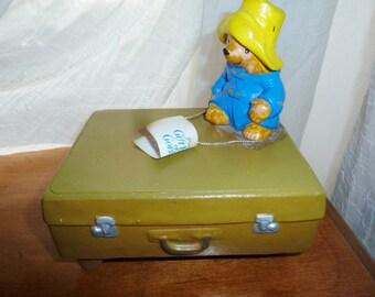 Vintage Paddington Bear musical figurine