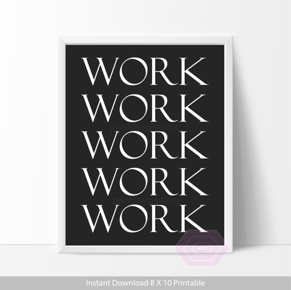 Cute Office Wall Decor : Cute office decor work quote printable wall art