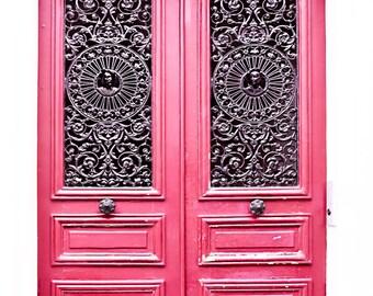 Paris Door Print, Red Paris Door Photo, Paris Photography, Door Wall Print, Paris Wall Decor, Red Wall Decor, Parisian Door, Unique Gift