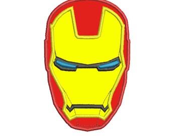Ironman Hero Applique 4x4 5x7 - Embroidery Machine Design
