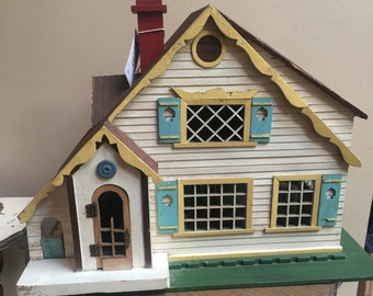 Darling handmade antique doll house with sliding front 1920 1930 folk art collectible