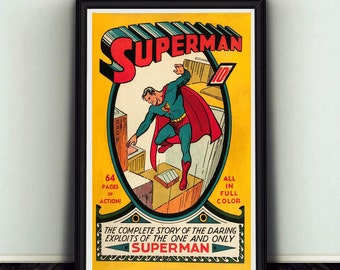 11x17 Superman #1 Comic Book Cover Poster Print