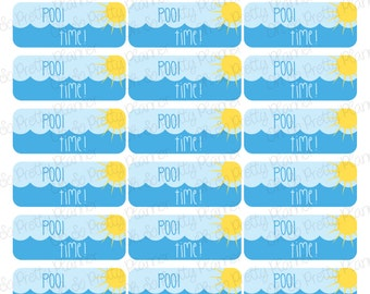 Pool Time Stickers for your Planner