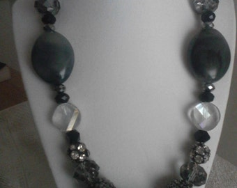 "24"" Crystal Necklaces with Earrings"