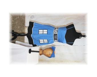 Tardis Dress / Dr Who Dress / Cosplay / Costume / Sundress-Medium-Large  (D21)